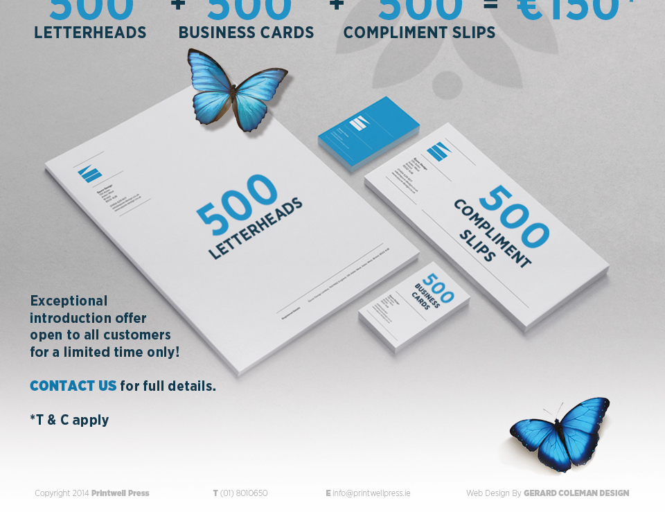 PROMOTIONS :::: PRINTWELL PRESS - Business card printing Meath ...